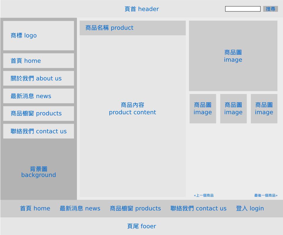版型-商品櫥窗內頁